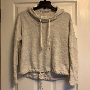 Lou & Grey cropped hooded sweatshirt